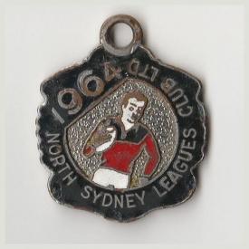 1964 North Sydney Leagues Club Member Badge