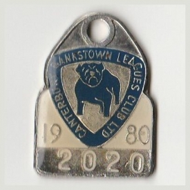 1980 Canterbury Bankstown Leagues Club Associate Member Badge