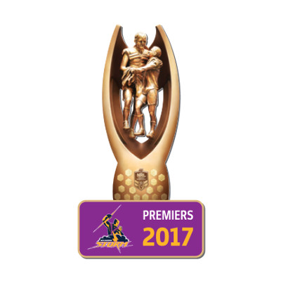 2017 Melbourne Storm NRL Premiers Trofe 3D Pin Badge
