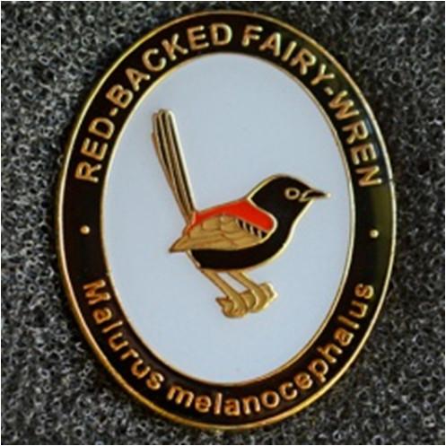 2015 BirdLife Sth Qld Red-Backed Fairy Wren Pin Badge