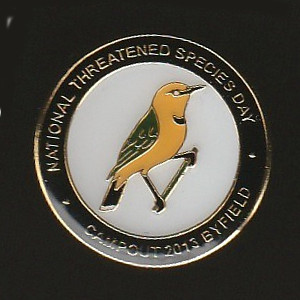 2013 BirdLife Sth Qld Yellow Chat Pin Badge