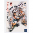 2002 St George Illawarra Dragons NRL Signed Autograph Postcard