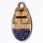 1969-70 Cronulla Sutherland Leagues Club Member Badge