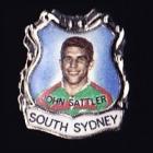 1967 South Sydney Rabbitohs NSWRL Captain John Sattler Daily Mirror Pin Badge