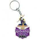 2012 Melbourne Storm NRL Premiers Trofe Keyring Badge