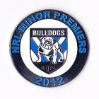 2012 Canterbury Bankstown Bulldogs NRL Minor Premiers Pin Badge a