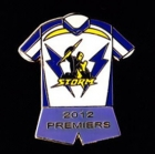 2012 Melbourne Storm NRL Premiers Jersey Pin Badge a