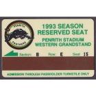 1993 Penrith Panthers NSWRL Season Ticket B E 15