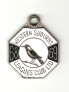 1968-69 Western Suburbs Leagues Club Member Badge