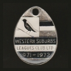 1971-72 Western Suburbs Leagues Club Member Badge