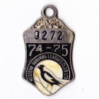 1974-75 Western Suburbs Leagues Club Member Badge