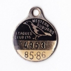 1985-86 Western Suburbs Leagues Club Member Badge