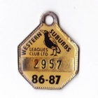 1986-87 Western Suburbs Leagues Club Member Badge