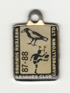 1987-88 Western Suburbs Campbelltown Leagues Club Member Badge