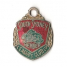 1967 South Sydney Leagues Club Member Badge