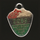 1985 South Sydney Leagues Club Member Badge h