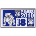 2010 Canterbury Bankstown Bulldogs NRL Member Stickers