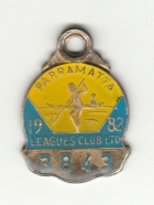1982 Parramatta Leagues Club Associate Member Badge