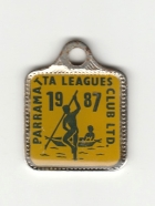 1987 Parramatta Leagues Club Associate Member Badge