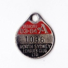 1983-84 North Sydney Leagues Club Associate Member Badge