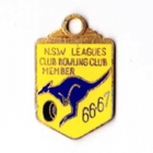 1966-67 NSW Leagues Club Bowling Club Member Badge
