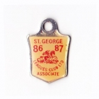 1986-87 St George Leagues Club Associate Member Badge