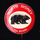 1968 North Sydney Bears NSWRL Supporter Scanlens Button Badge