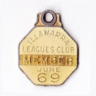 1968-69 Illawarra Leagues Club Member Badge