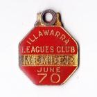 1969-70 Illawarra Leagues Club Member Badge
