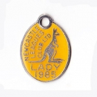 1985 Newcastle Leagues Club Lady Member Badge
