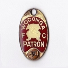 1980 Wodonga Football Club Patron Member Badge