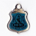 1990-91 Sydney Aussie Rules Social Club Member Badge