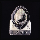 1980 Collingwood Magpies VFL Member Pin Badge No. 1248