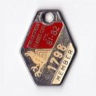 1981-82 Ryde Eastwood Leagues Club Member Badge