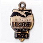 1974 Tweed Heads Rugby League Football Club Member Badge