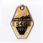 1977 Tweed Heads Rugby League Football Club Member Badge