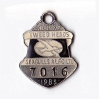 1985 Tweed Heads Rugby League Football Club Member Badge