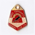 1976 West Tamworth Rugby League Club Member Badge