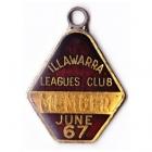 1966-67 Illawarra Leagues Club Member Badge