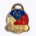 1981-82 Melbourne Cricket Club Restricted Member Badge