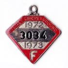 1972-73 Sydney Cricket Ground Member Badge