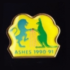 1990-91 Ashes Stumps Tetley Pin Badge