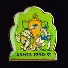 1990-91 Ashes Caricature Tetley Pin Badge