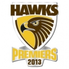 2013 Hawthorn Hawks AFL Premiers Pin Badge