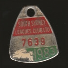 1983 South Sydney Leagues Club Member Badge