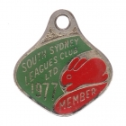 1977 South Sydney Leagues Club Member Badge