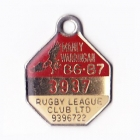1986-87 Manly Warringah Leagues Club Member Badge