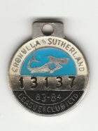 1983-84 Cronulla Sutherland Leagues Club Member Badge