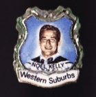 1967 Western Suburbs Magpies NSWRL Captain Noel Kelly Daily Mirror Pin Badge