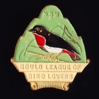 1947 Gould League of Bird Lovers NSW Member Badge Pin p